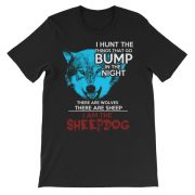 I Am The Sheepdog Black Unisex Tee