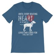 I Will Not Stop Loving Dog Steel Blue Unisex Tee